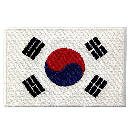 Bandiera della Corea del Sud Coreano Emblema Nazionale Termoadesiva Cucibile Ricamata Toppa