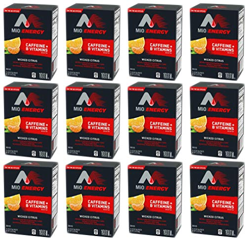 Set of 120 Wicked Citrus MIO Energy On-The-Go Powdered Drink Mix - Great for Work, School, Trips, and More! - 120 Sealed Serving Packets (Wicked Citrus)