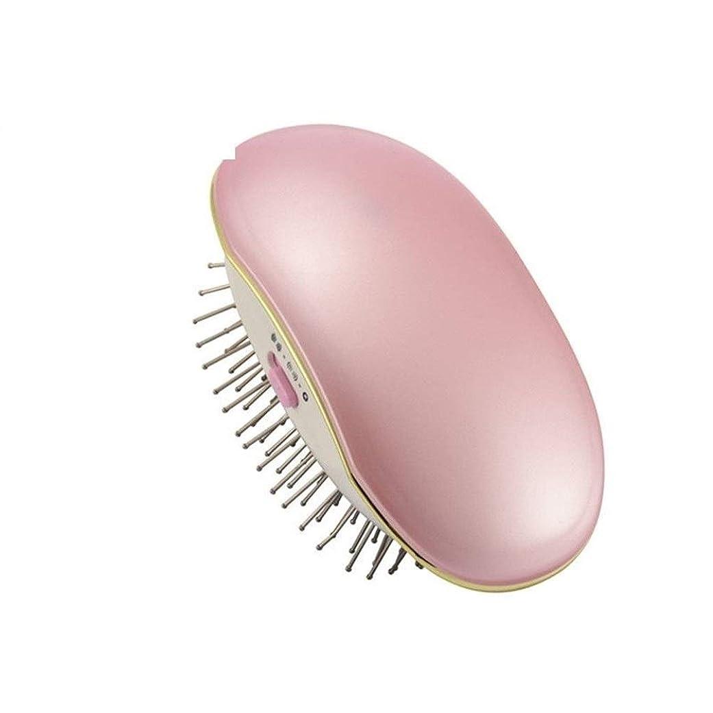 強制最少回転Jiashenghuang ポータブル電気イオンブラシ櫛イオン完璧な矯正スタイラーアイロンブラシケア矯正電気アイロンブラシ (Color : Pink)