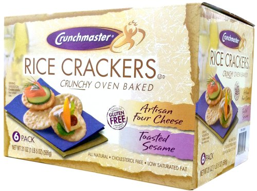Crunchmaster GLUTEN FREE Oven Baked RICE CRACKERS 21oz (12 Pack)