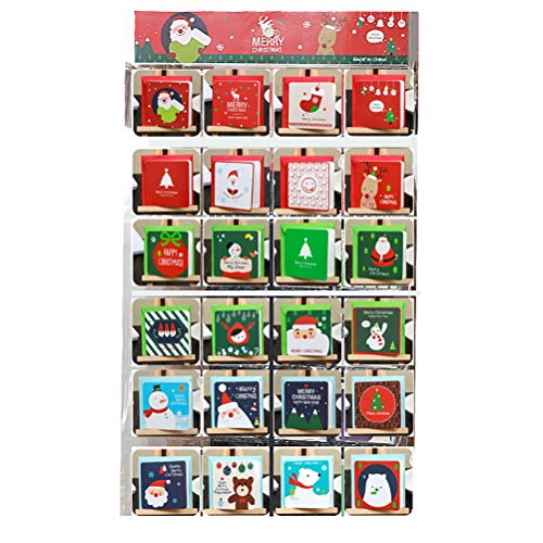 Faviye Cartoline Natalizie 144PCS Cartoline Pieghevoli Colorate con Motivo Carino Cartoline Natalizie per Auguri di Natale