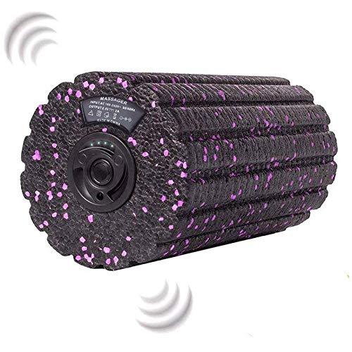 AFGH Foam Roller Columna de Yoga eléctrica, Espuma de vibración, Eje de plástico, Rodillo de Carga, relajación Muscular, vibrador, masajeador, Rodillo de Masaje, Equipo de Fitness