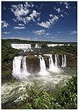 Wallario Poster - Iguazu-Wasserfälle in Premiumqualität,