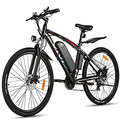 VIVI Electric Bike 500W 48V E-Bike for Adult 27.5 Inch Electric Mountain Bike with Removable 10.4Ah Lithium-Ion Battery, 21 Speed Gear Electric Bicycle Men Women (Black)