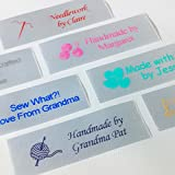 Customized with Your Text & Motif Professionally Printed in USA and Delivered Fast Choice of Lettering Colors, Fonts & Images Click Customize Now to get started Woven Labels also available - see other listings!