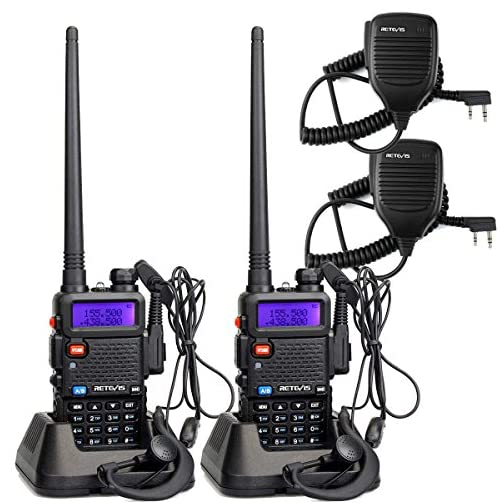 Retevis RT-5R Dual Band Two Way Radio, Long Range Walkie Talkies 128CH 155 Privacy Codes UHF/VHF Police Radios, FM… 3