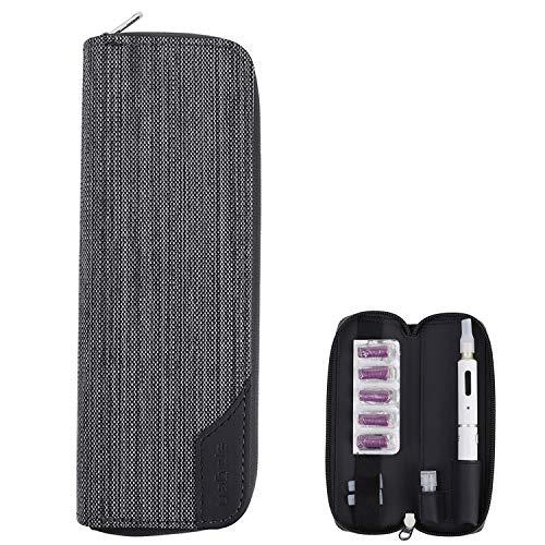 プルームテックプラス/Ploom Tech Plus 収納ケース 財布 カード 収納ケース 軽量 プルームテックプラス 完全収納 電子タバコケース (グレー)
