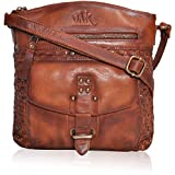 Sling Bags for Women Genuine-Leather - Vintage Multi Pocket Crossbody Purse