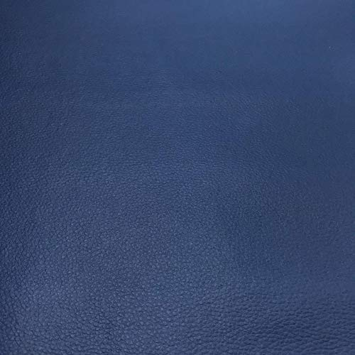 Kt KILOtela Tela por Metros de Polipiel para tapizar - Tapicería - Ancho 140 cm - Largo a elección de 50 en 50 cm   Azul