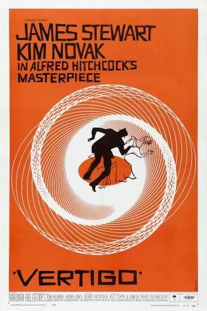 Vertigo - James Stewart – Movie Wall Poster Print – A4 Size Plakat Größe Alfred Hitchcock