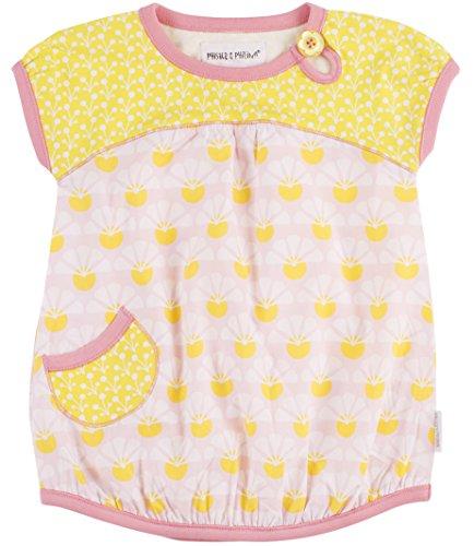 Phister & Philina Baby-Mädchen Elizabeth Bud Kleid, Mehrfarbig (Buttercup But), (Herstellergröße:74)