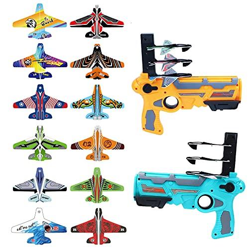 TWOYOMN Catapult Plane 2 Set Bubble Catapult Plane Toy Airplane, Shooting Game Toy...