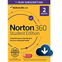 Norton 360 Student Edition 2021 Antivirus software for 2 Devices (Download)