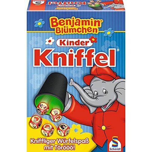Schmidt Spiele 40390 Benjamin Blümchen 40390-Benjamin, Kinder Kniffel, bunt