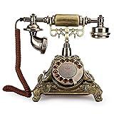FastUU Téléphone à Cadran Rotatif, téléphone Filaire de Style Antique Vintage sans Besoin d'alimentation Externe ou de Batterie Classique téléphone de Bureau à Domicile pour la Maison, Bureau, décor