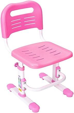 子供研究机椅子セット キッズオフィスチェア人間工学に基づいたデスクチェア正しい姿勢の高さ調節可能な子供学生コンピュータチェア (色 : ピンク)