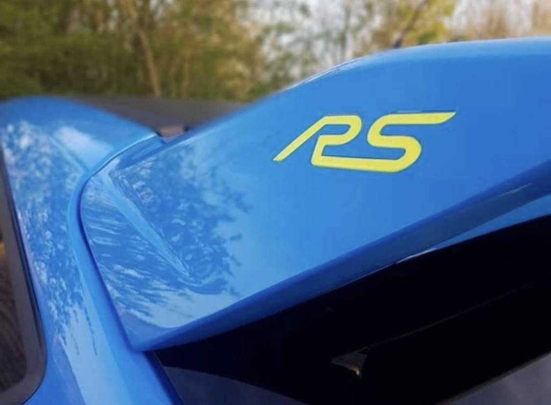 Focus Rs Mk3 3d Gel Embleme Inlays Für Den Heckspoiler Gelb Auto