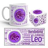 Kembilove Taza de Desayuno Horóscopo de Leo – Taza de café de Signo del Zodiaco Leo – Tazas de Café y Té Horóscopo Leo – Regalo Original para Parejas, Amigos, Familiares, Cumpleaños
