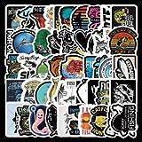 WEIGUANG Pegatinas de la Serie de Pesca de Dibujos Animados, Maleta para Ordenador portátil, monopatín, Guitarra, DIY, Motocicleta, PVC, Pegatinas de Graffiti a Prueba de Agua, Juguetes, 52 unids/Set
