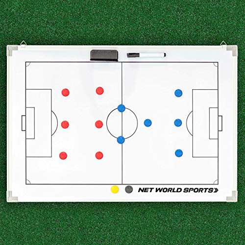 awagas Soccer Tactics Board Double-Sided Soccer Coaching Board Soccer Whiteboard for Coaches Soccer Coaches Magnetic Coach Board Training Assistant Soccer Coaching Equipment (45x30.5 cm)