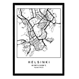 Nacnic Drucken Stadtplan Helsinki skandinavischen Stil in