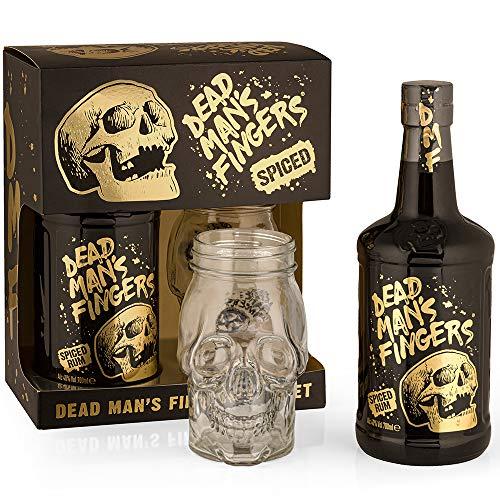 Dead Man's Fingers Spiced Rum Geschenkbox mit Glas 0,7l - 37,5%