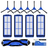 RONGJU Replacement Parts for Eufy RoboVac 11S Max, Accessories Kit for RoboVac 15C Max 30C Max Robotic Vacuum Cleaner, Includes 4 Filters, 6 Side Brushes, 1 Roller Brush