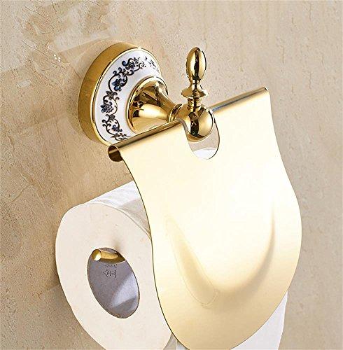 Uncle Sam LI- European Style Creative Toilettenpapierhalter mit Coverpapierhalter Badzubehör, Wandmontage ( Farbe : Gold )