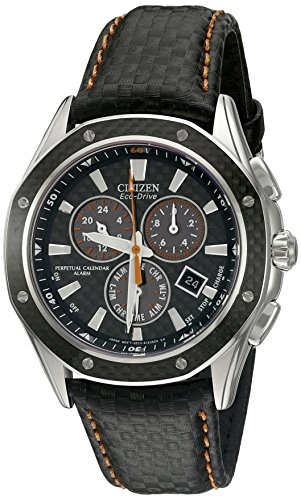 Octavia Eco-Drive Perpetual Calendar Alarm Chronograph Stainless Steel Case...