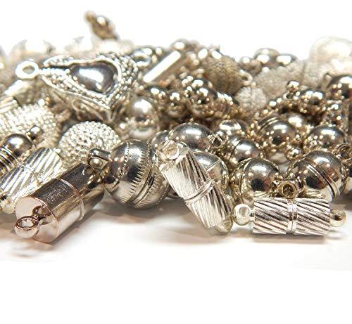 10Stk Magnetverschlüsse Mischung Set, 10 Verschiedene Modelle, Kettenverschluss, Verschlüsse Verbinder, Schmuckverschluss, Magnet Verschluss für Schmuck Zubehör Kette Armband DIY