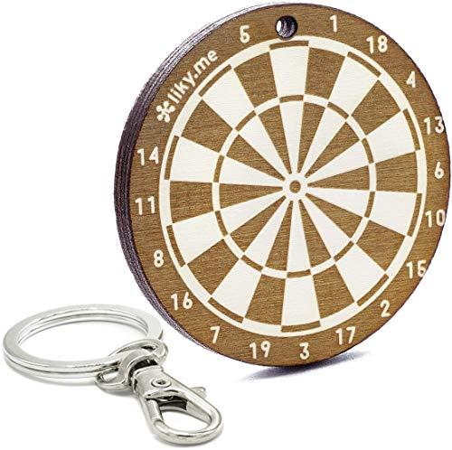 LIKY® Dart - Original Schlüsselanhänger aus Holz Gravur Geschenk Damen Herren Geburtstag Hobby Schmuck Anhänger Tasche Rucksack