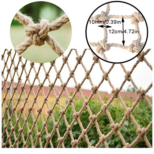 Find Bargain Balcony Safety Net Hemp Rope Safety Net Railing Fence Mesh Protection Net Anti-Fall Net...
