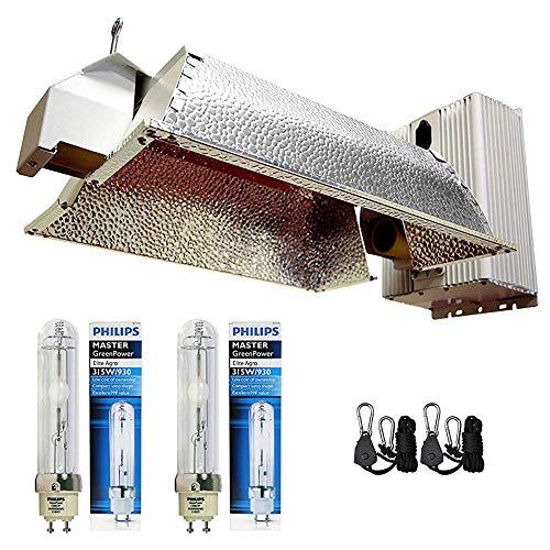 Grow Co. 630W Ceramic Metal Halide CMH System w/Philips 3100K Full Spectrum Bulb 240V Power Cord