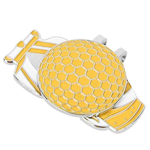 SALUTUYA Marcador de Pelota de Golf de Alta Resistencia Ligero portátil 3 Colores, para Practicar Golf(Yellow)