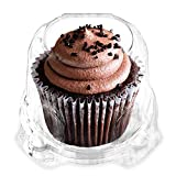 Green Direct Cupcake Containers - Stackable Dome Cupcake Boxes Clear Pack of 50