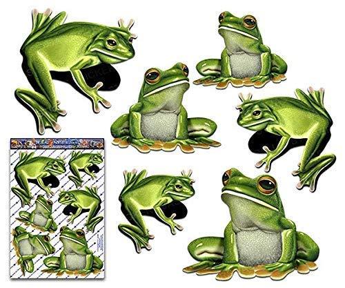 JAS Stickers® Frösche Tier Auto Aufkleber - Green Tree Große Vinyl Aufkleber Pack für Laptop Fahrrad Wohnwagen LKWs & Boote - ST00058_3
