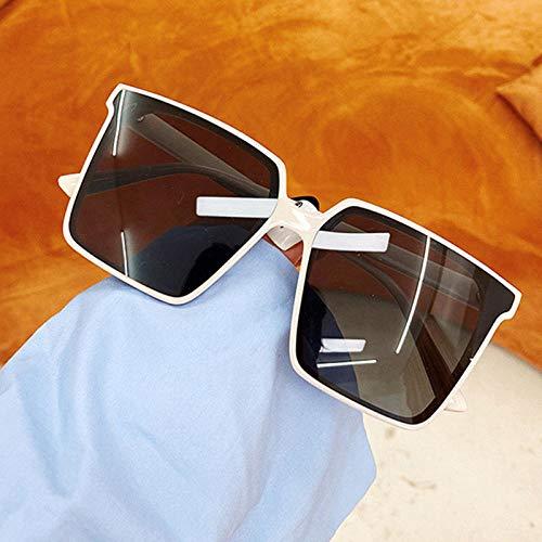 ZYIZEE Gafas de Sol Gafas de Sol cuadradas de Gran tamaño para Mujeres y Hombres Gafas de Sol Transparentes con gradiente Gafas de Montura Grande UV400 Gafas para Conductor-C