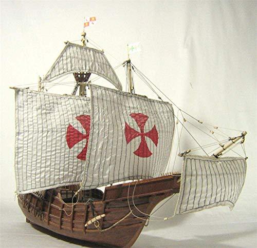 XIUYU Wohnzimmerdekorationen Wasserfahrzeug Modellbau Kits Modell Fahrzeug Maßstab 1/50 Spanien Klassische Segel Model Kits Columbus Flotte Santa Maria 1492 Schiffsmodell