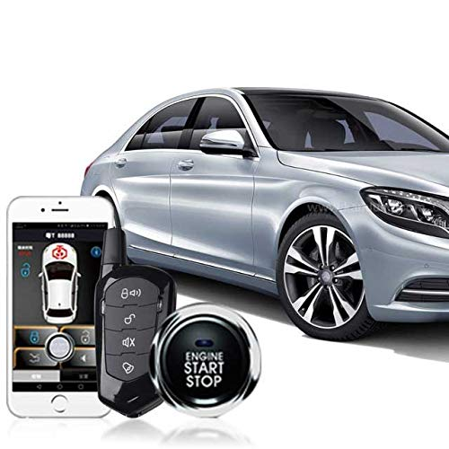 Keyless Entry Remote Starters Kit for Cars,Mobile Phone Bluetooth App Remote Car Starter,Automatic Central Locking/Unlock System Car Alarm System