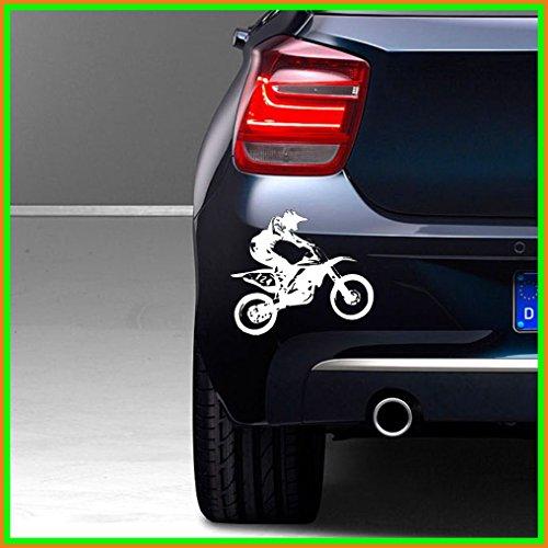 """Hochwertiger\""""Motocross\"""" Aufkleber ca. 13 x 10 cm Autoaufkleber Tuning für Wand oder Auto Lack Scheibe Vinyl über 60 Farben zur Auswahl"""