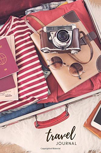 Travel Journal: Vintage Travel Suitcase Cover Design / 6x9 Diary With Prompts / Small Notebook To Write In and Doodle / Gift For People Who Like To Travel