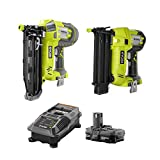 Ryobi 18-Volt ONE+ AirStrike 18-Gauge Cordless Brad Nailer and 16-Gauge Cordless Finish Nailer Combo Kit