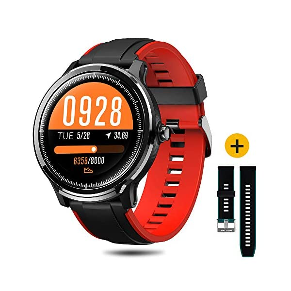 SmartWatch,Reloj Inteligente Impermeable IP68,Bluetooth Relojes Deportivos Pantalla t¨¢ctil completa para monitor… 3