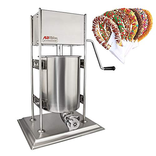 ALDKitchen Churro Machine for Spanish Churros Manual   Stainless Steel 10 Litters / 2,5 Gallons Tank   5 Nozzles