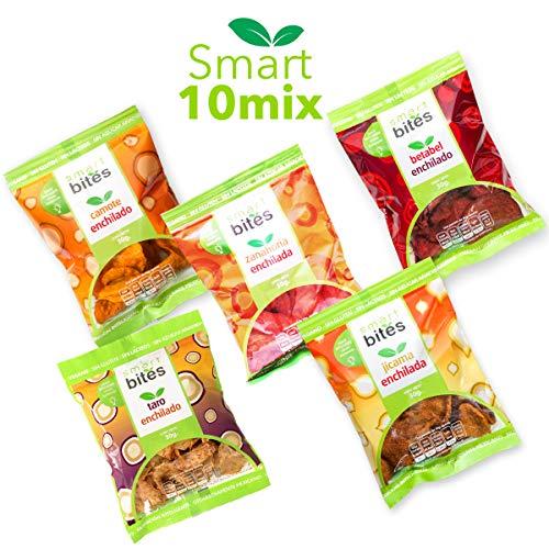Smart Bites Surtido de Chips Enchiladas, Camote, Jícama, Betabel, Zanahoria y Manzana, Surtido Enchilado de Camote, Jícama, Betabel, Zanahoria y Manzana, 300 gramos