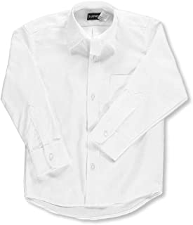 Kaynee Big Boys' L/S Button-Down Shirt-white