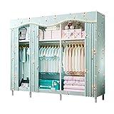 ZZYE Armario de tela Closet portátil, Closet Ropa Estabilidad Permanente Armario Armario Organizador de almacenamiento...