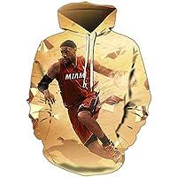 ジェームズバスケットボールジャージー男プルオーバーフード付きセーター、長袖パーカートレーニング服スポーツシャツ男性スポーツウェアS-5XL James-3-XL