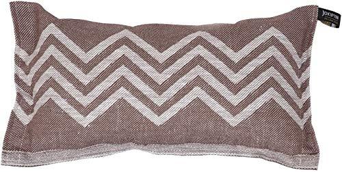 Jokipiin | 1 Saunakissen Lieblingskissen Reisekissen | Design: Peak | Maße: 40 x 22 cm, Leinen/Baumwolle | schadstofffrei Ökotex 100 | hergestellt in Finnland (braun/weiß)
