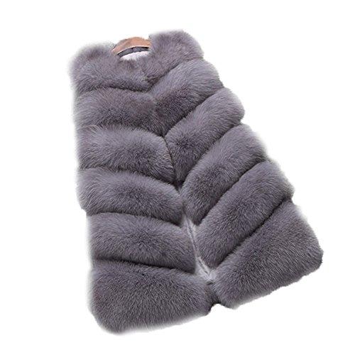 FOLOBE Womens 'Winter Warm Faux Pelz Weste Mantel Jacke Fellweste Damen Pelzweste Weste Fell kunstfell Weste